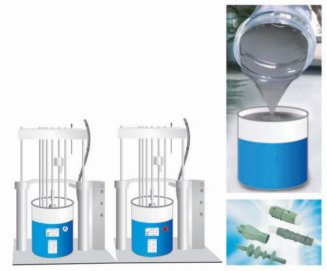 Caucho de silicona liquida a voltaje medio gel de silicona for Caucho de silicona